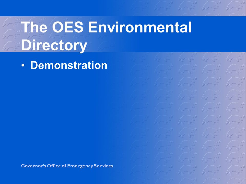 The OES Environmental Directory