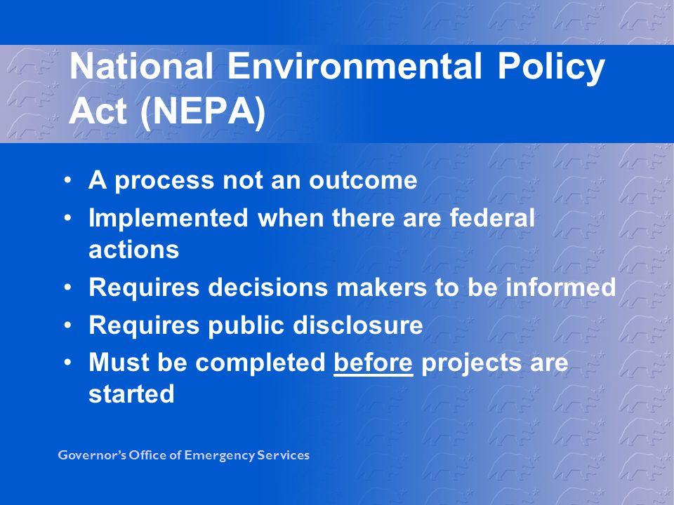 National Environmental Policy Act (NEPA)