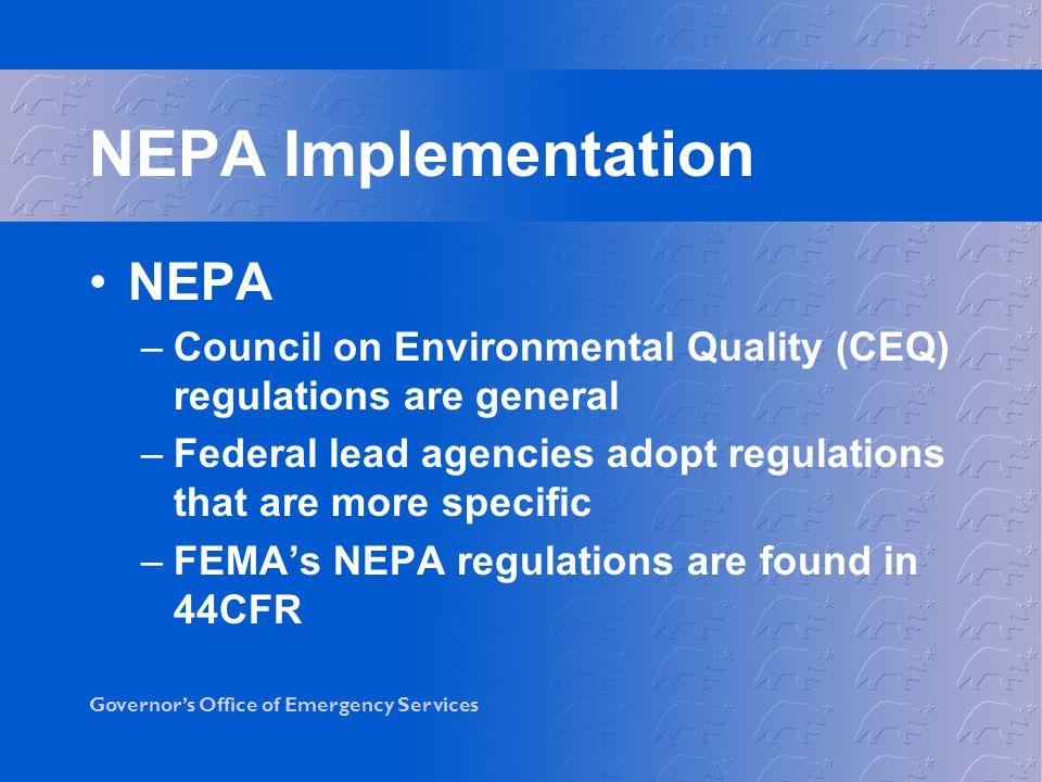 NEPA Implementation NEPA