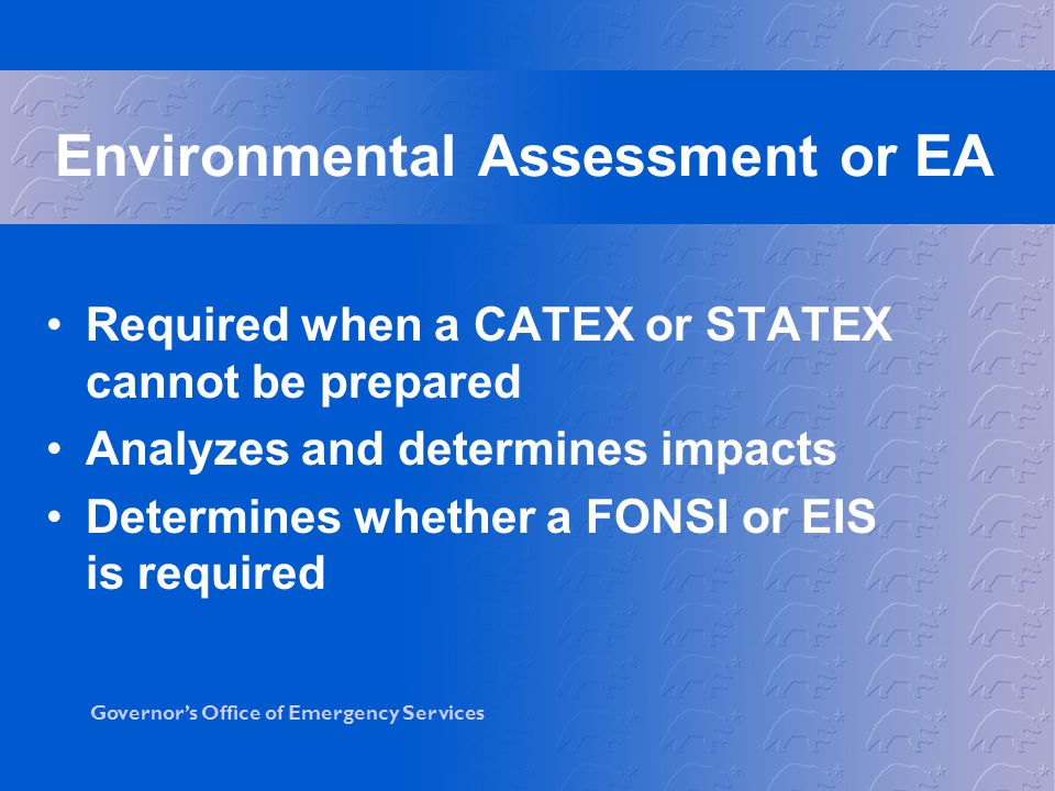 Environmental Assessment or EA