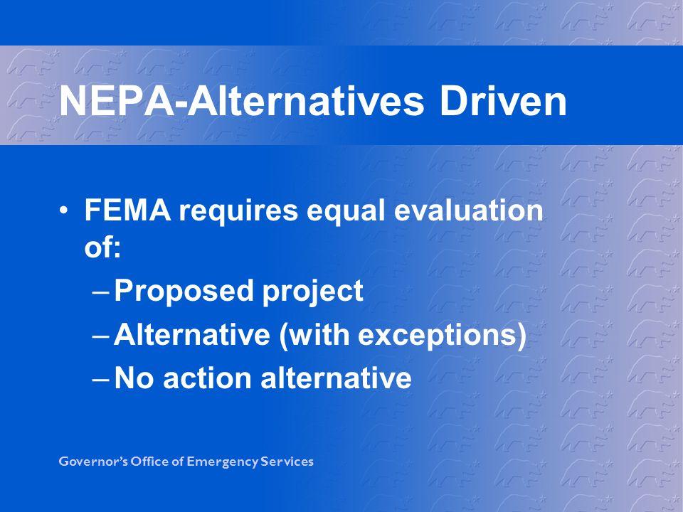 NEPA-Alternatives Driven