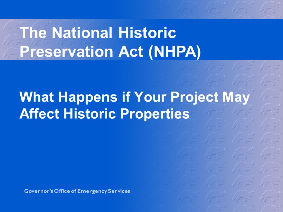What Happens if Your Project May Affect Historic Properties