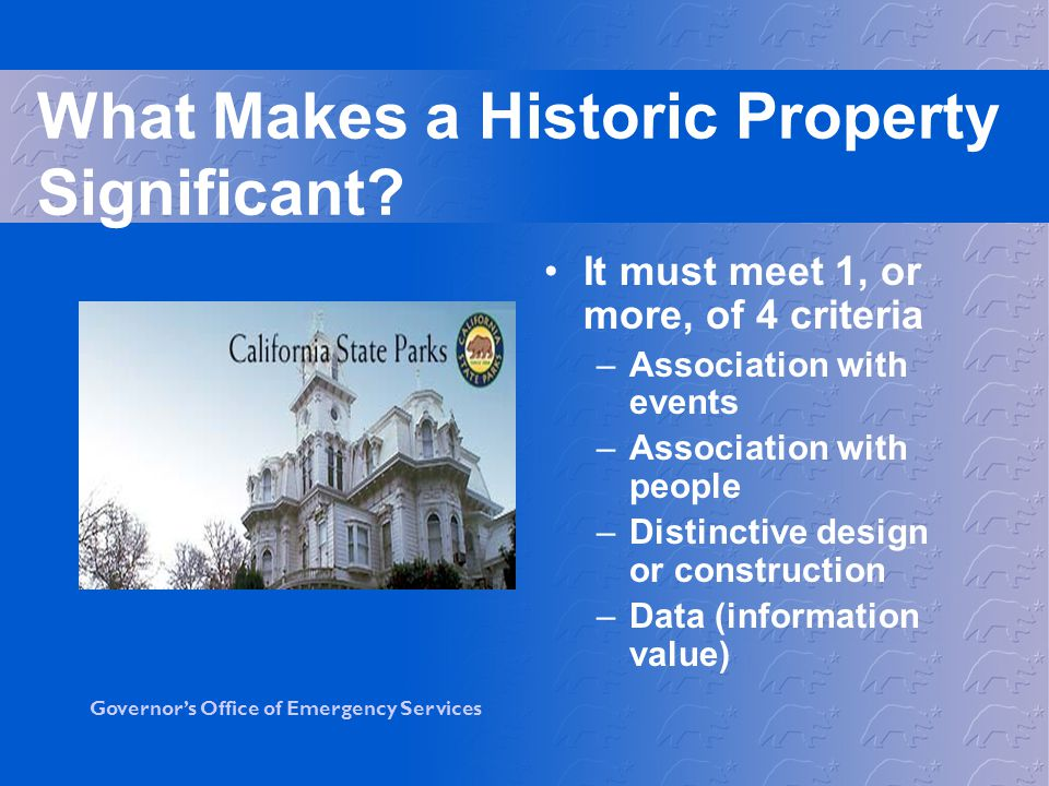 What Makes a Historic Property Significant