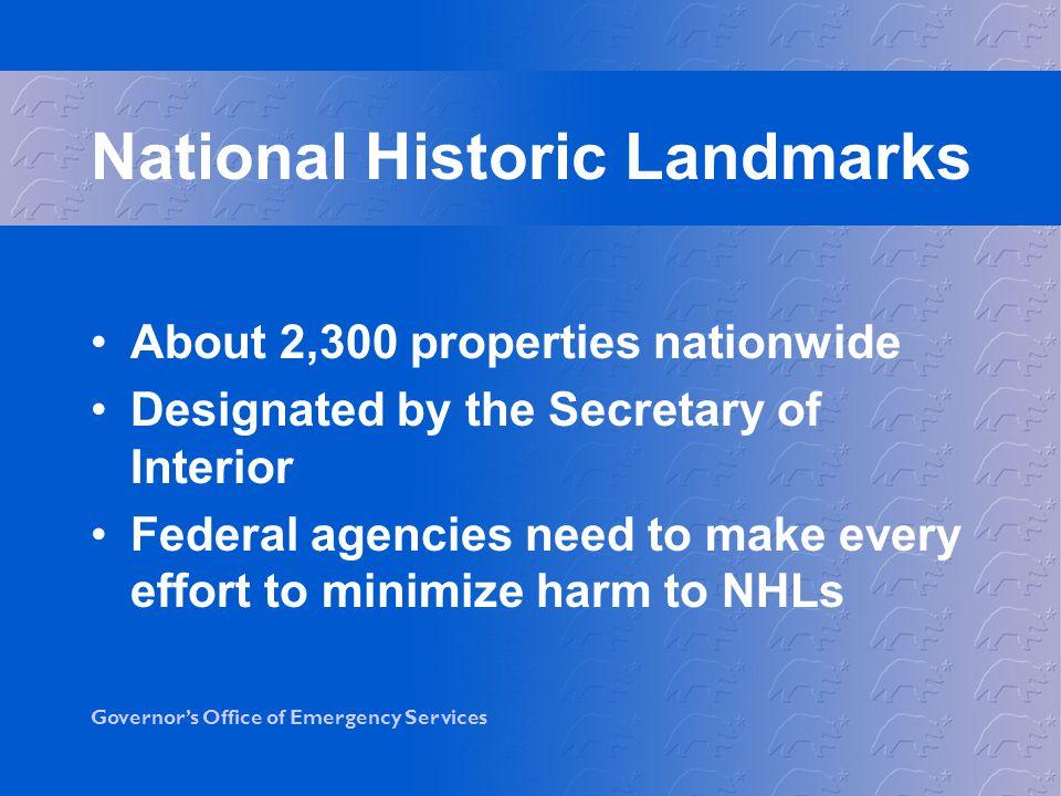 National Historic Landmarks