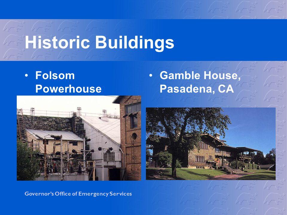 Historic Buildings Folsom Powerhouse Gamble House, Pasadena, CA