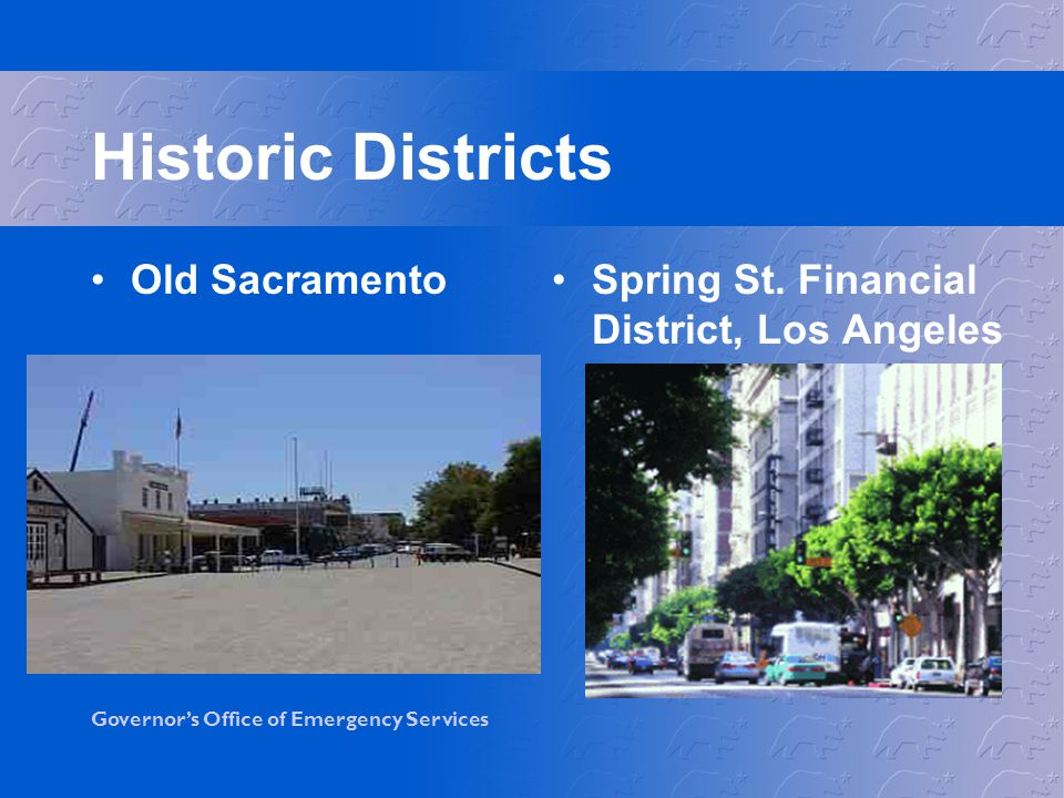 Historic Districts Old Sacramento