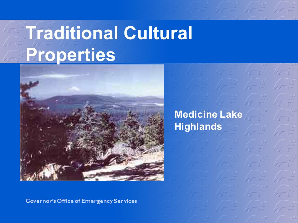 Traditional Cultural Properties