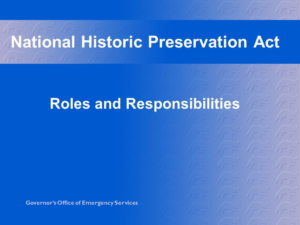 National Historic Preservation Act