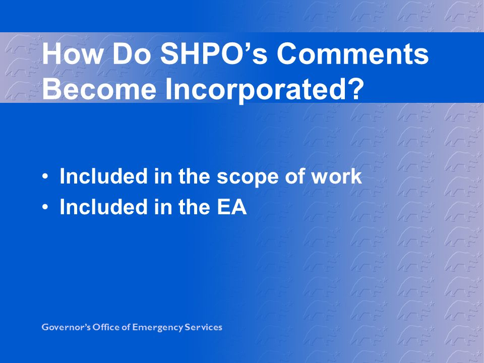 How Do SHPO's Comments Become Incorporated