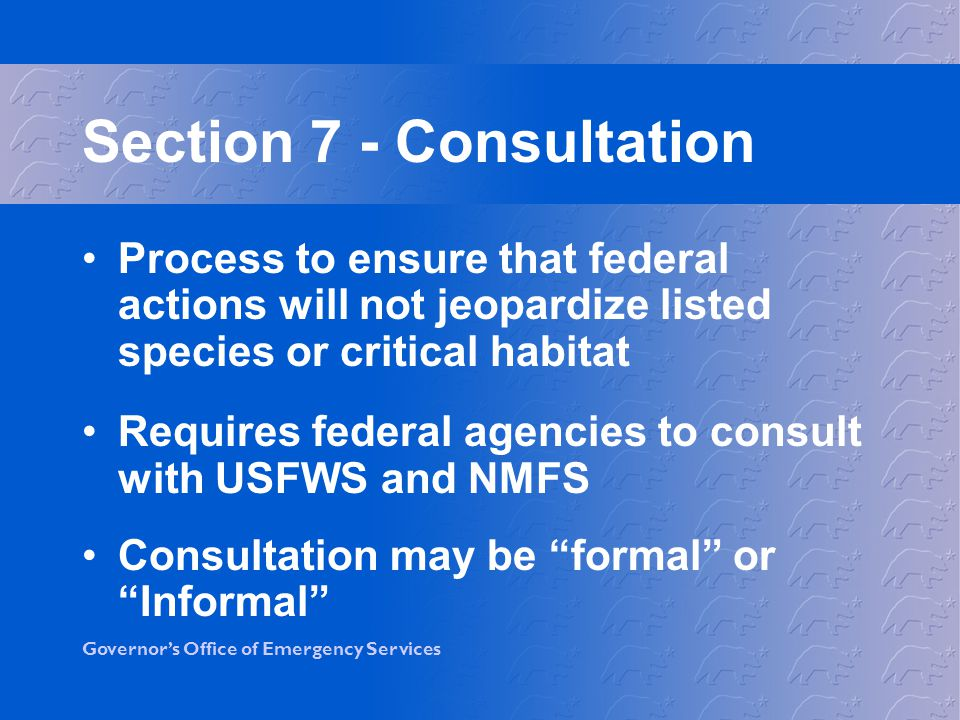 Section 7 - Consultation