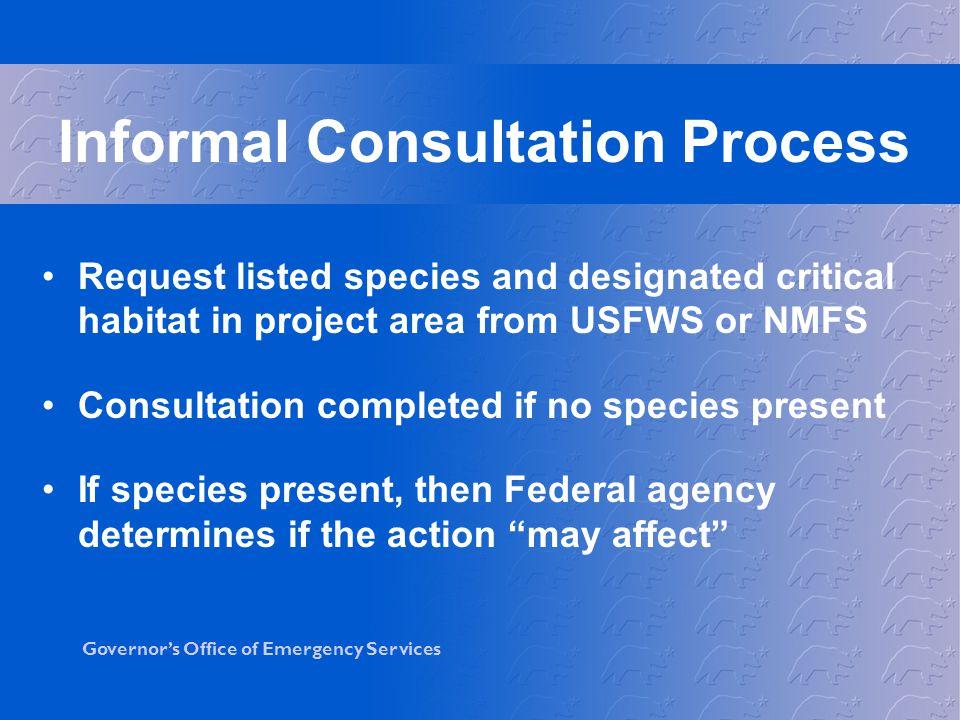 Informal Consultation Process