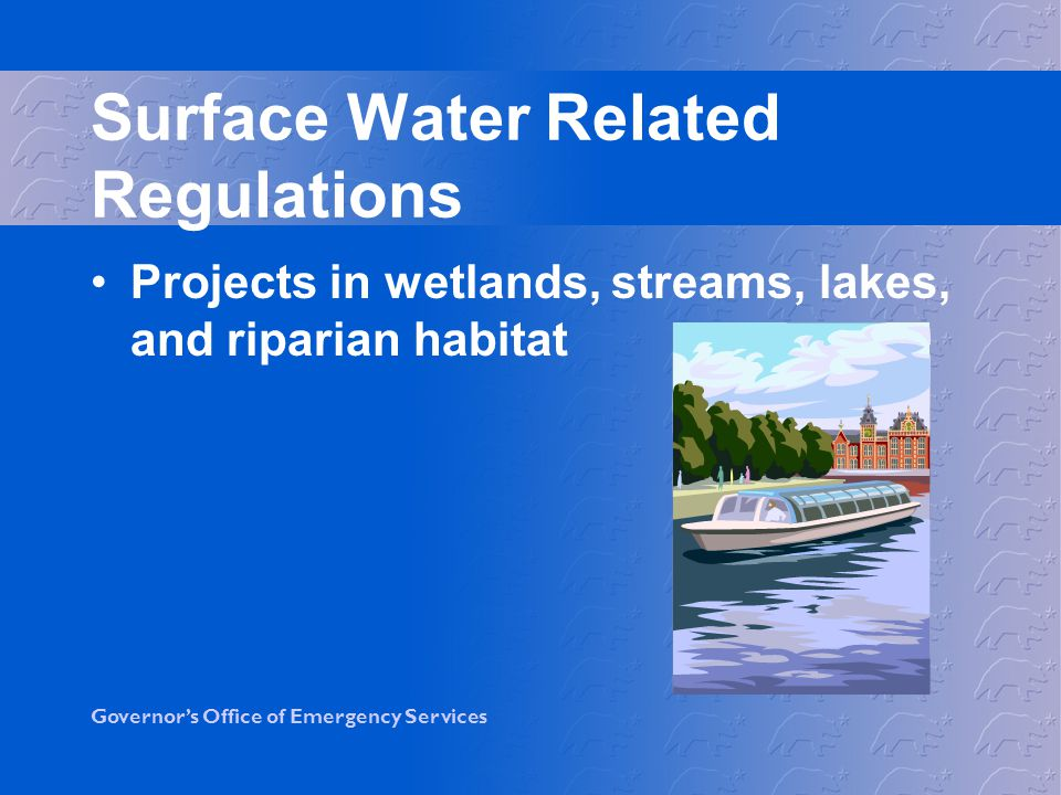 Surface Water Related Regulations