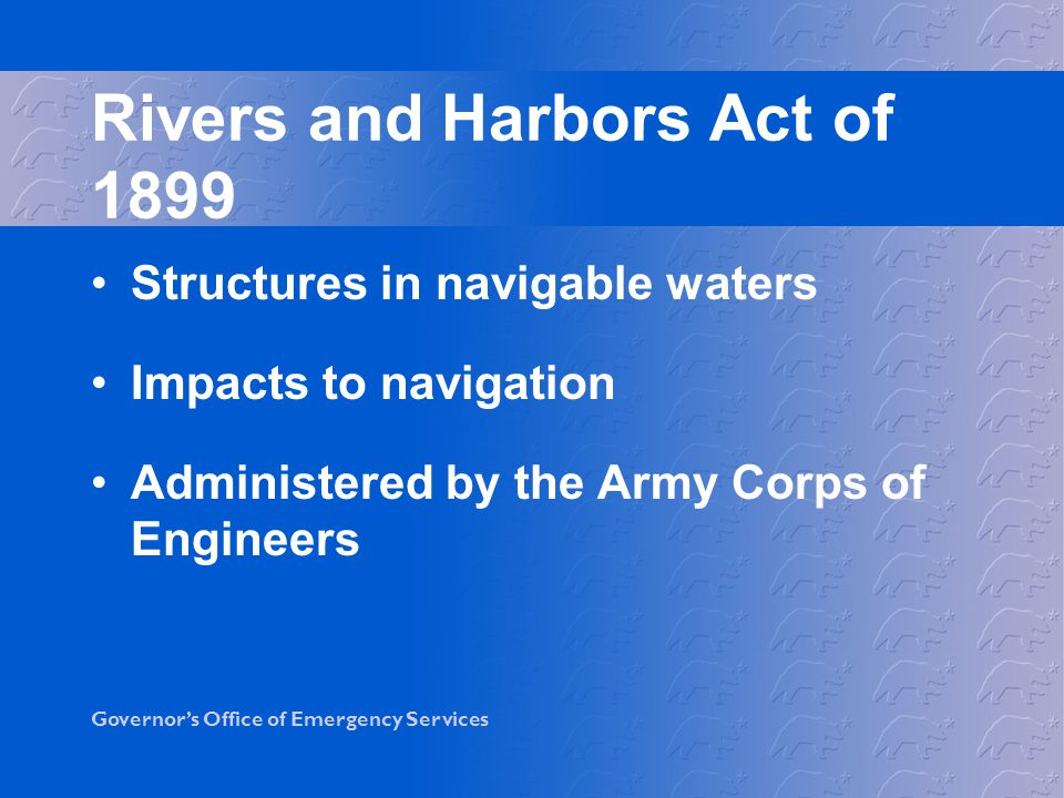 Rivers and Harbors Act of 1899