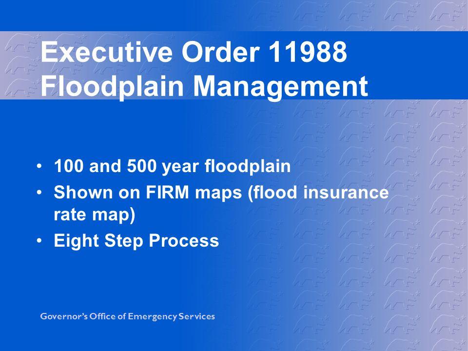 Executive Order 11988 Floodplain Management