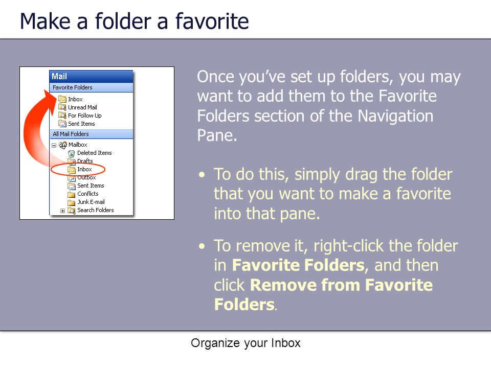 Make a folder a favorite