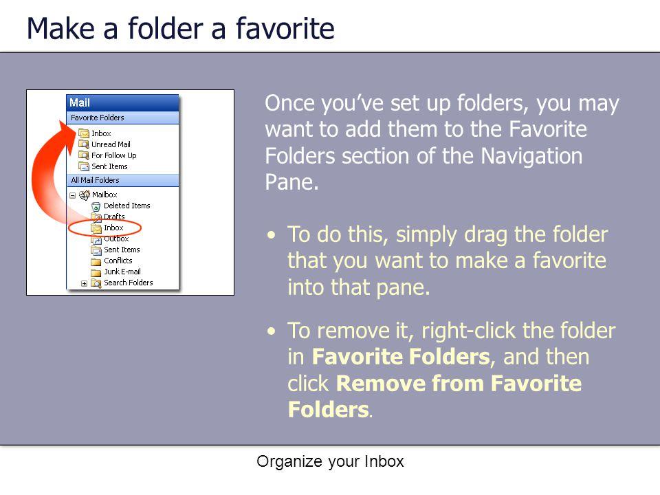 Make a folder a favorite