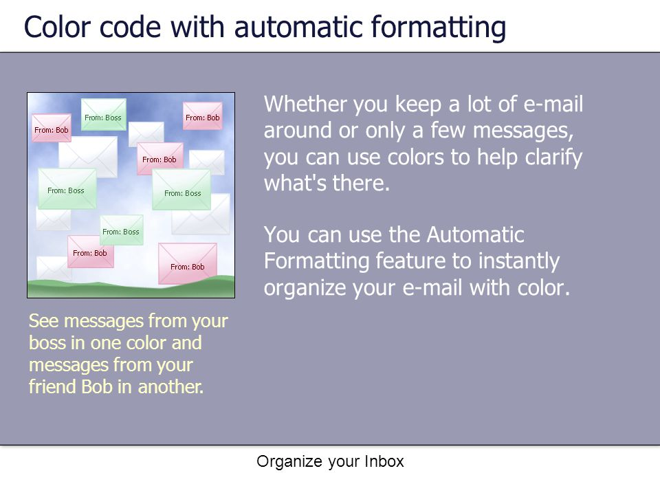 Color code with automatic formatting