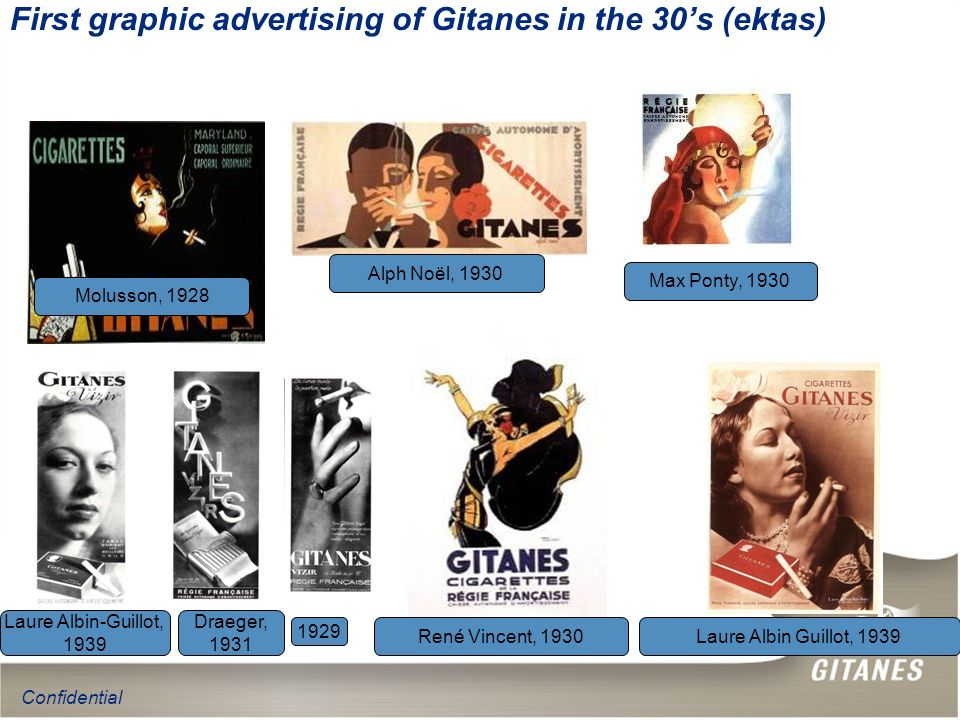 First graphic advertising of Gitanes in the 30's (ektas)