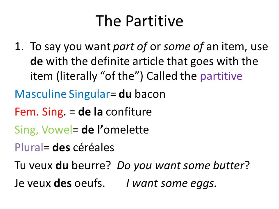 The Partitive