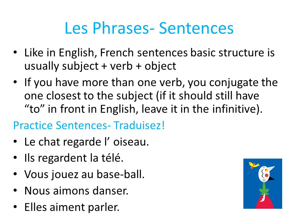 Les Phrases- Sentences