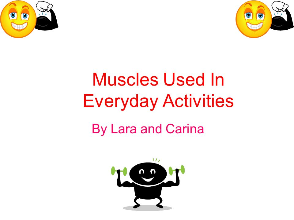 Muscles Used In Everyday Activities