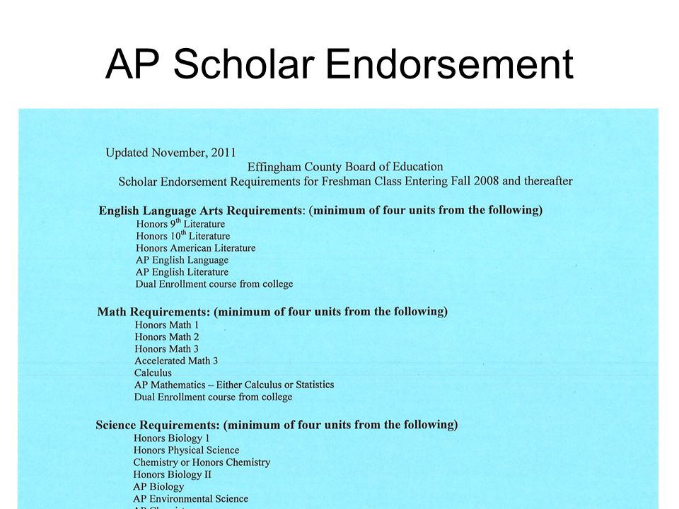 AP Scholar Endorsement