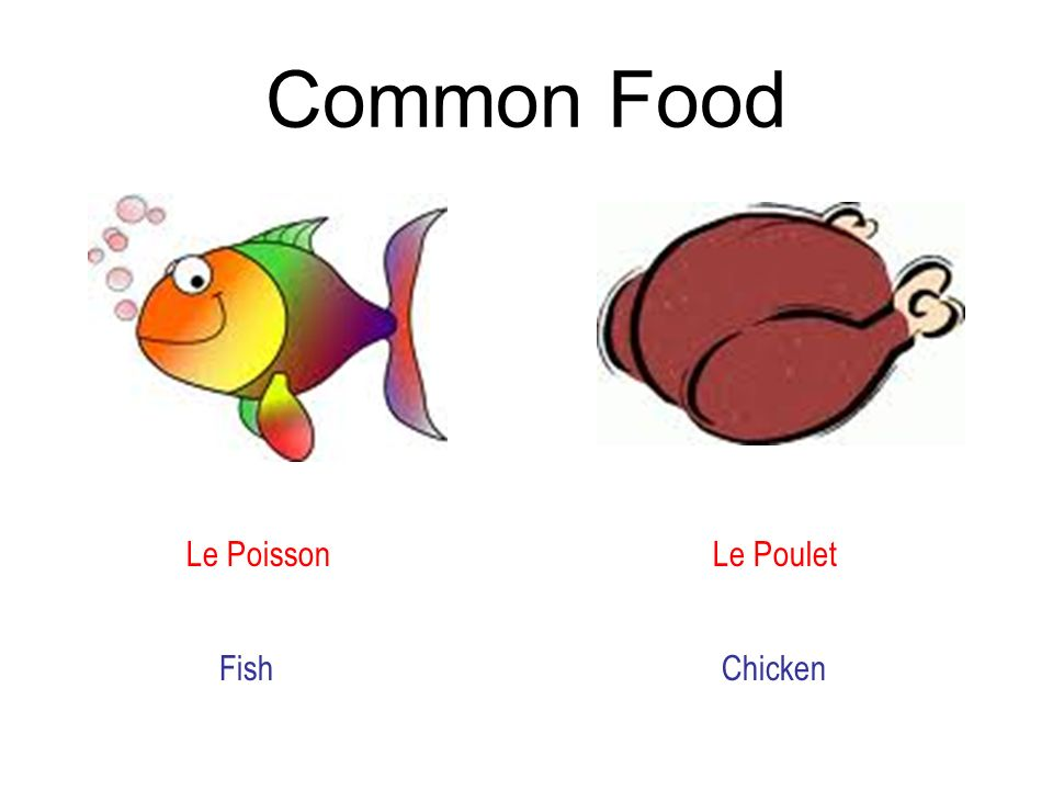 Common Food Le Poisson Le Poulet Fish Chicken