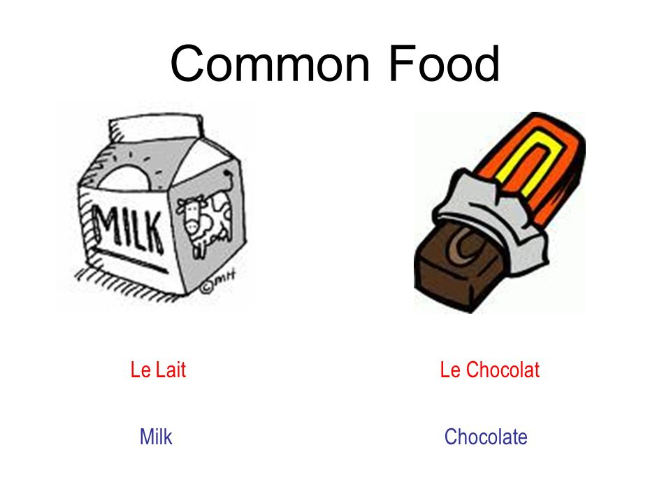 Common Food Le Lait Le Chocolat Milk Chocolate