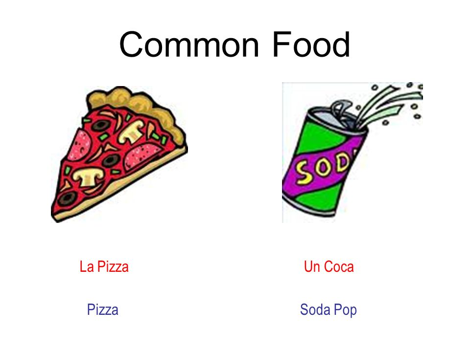 Common Food La Pizza Un Coca Pizza Soda Pop