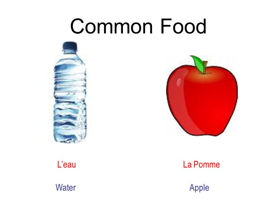 Common Food L'eau La Pomme Water Apple