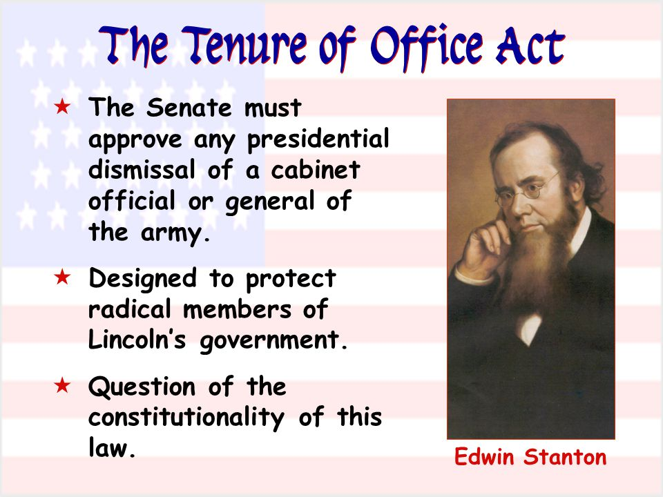 The Tenure of Office Act