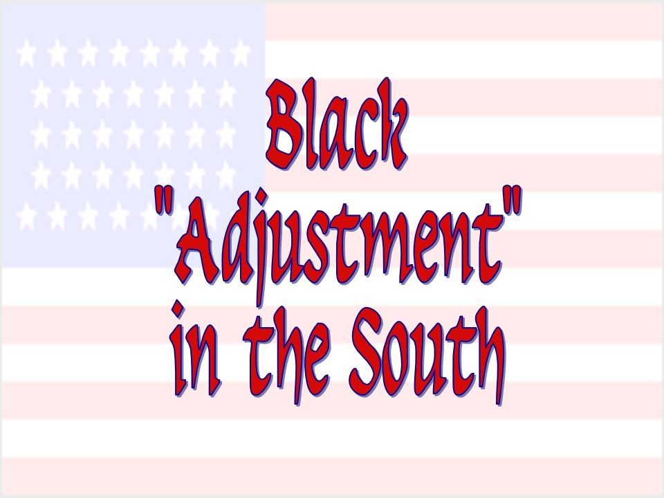 Black Adjustment in the South