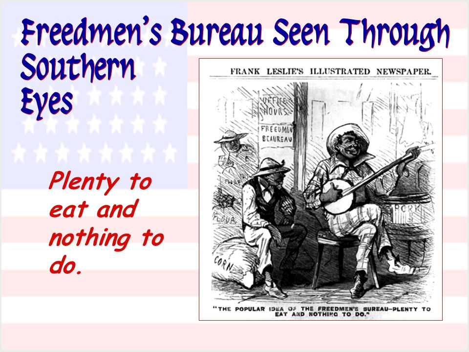 Freedmen's Bureau Seen Through Southern Eyes