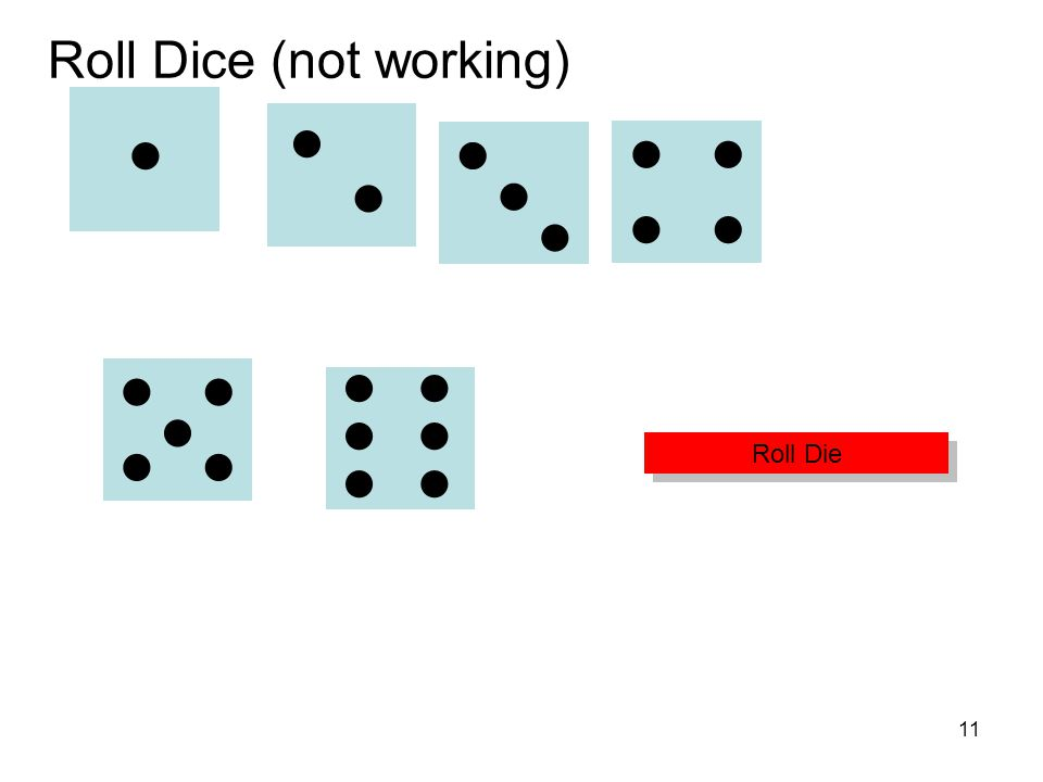 Roll Dice (not working)