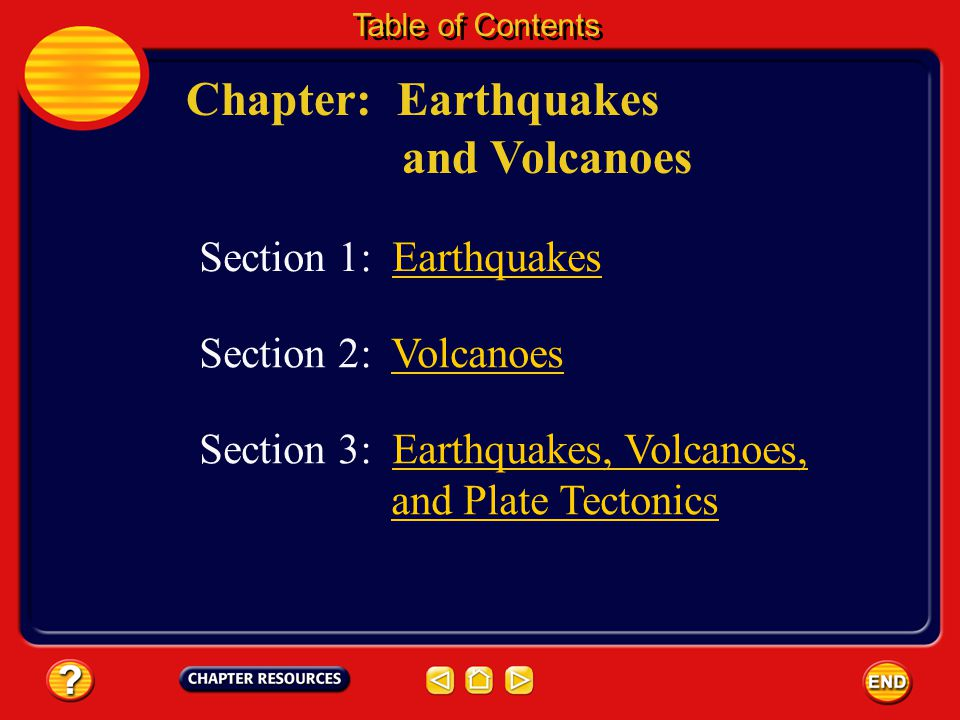 Chapter: Earthquakes and Volcanoes