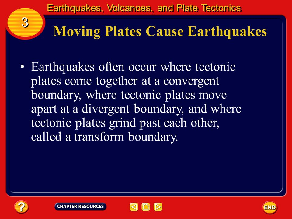 Moving Plates Cause Earthquakes