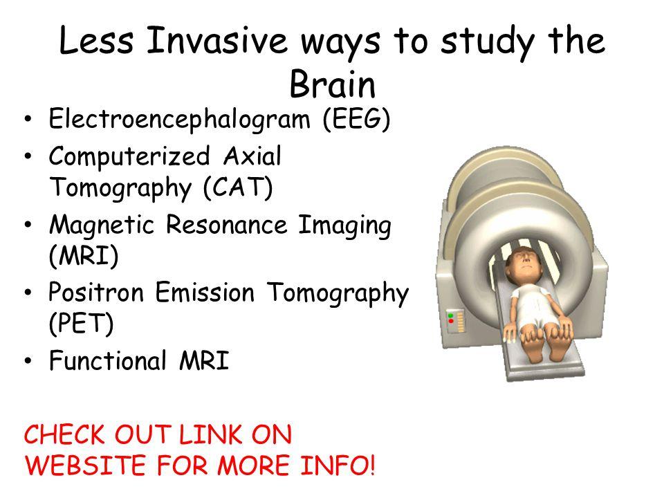 Less Invasive ways to study the Brain