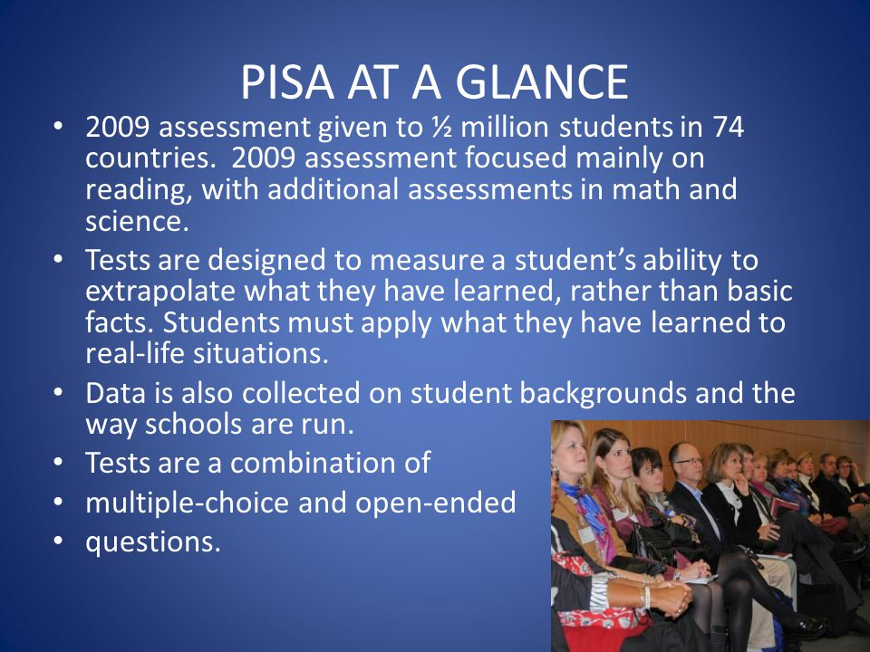 PISA AT A GLANCE