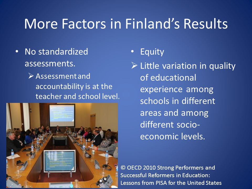 More Factors in Finland's Results