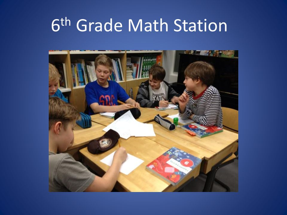6th Grade Math Station
