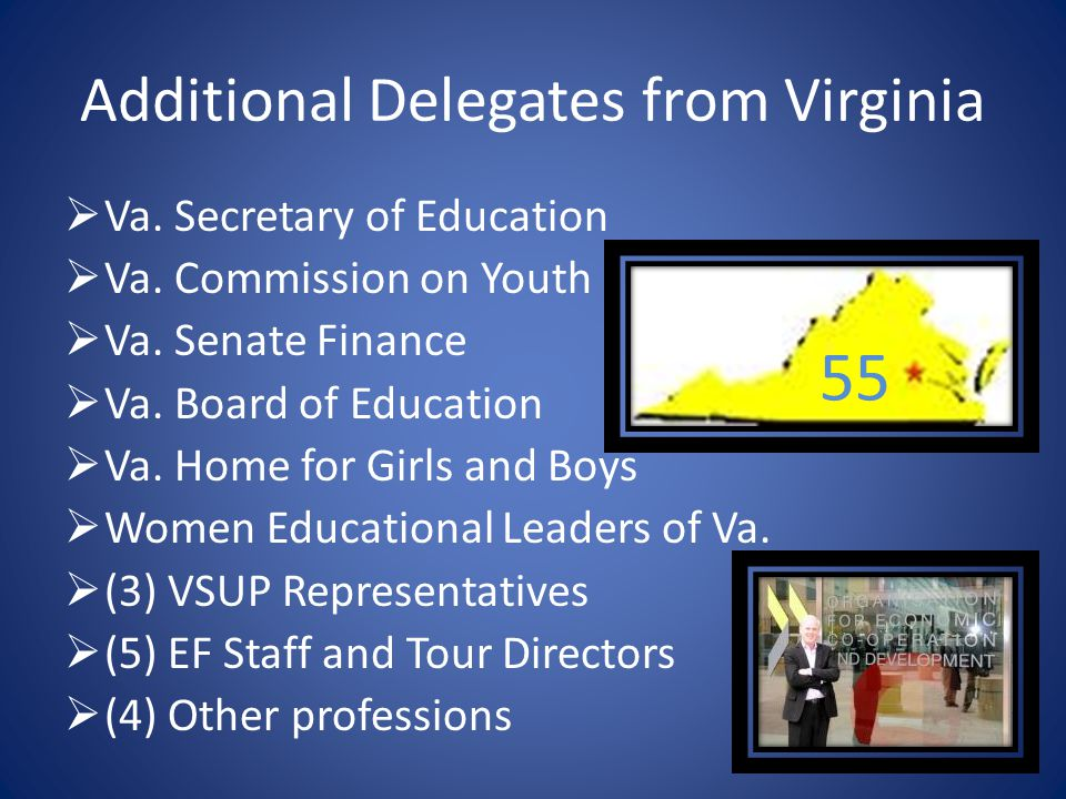Additional Delegates from Virginia