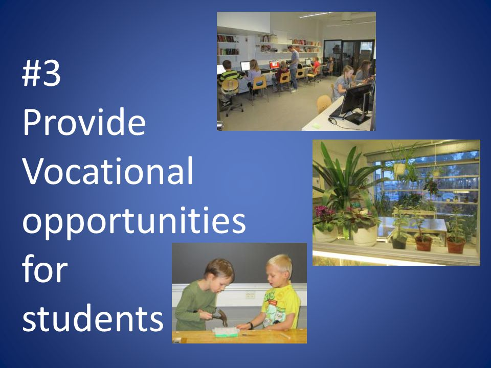 #3 Provide Vocational opportunities for students