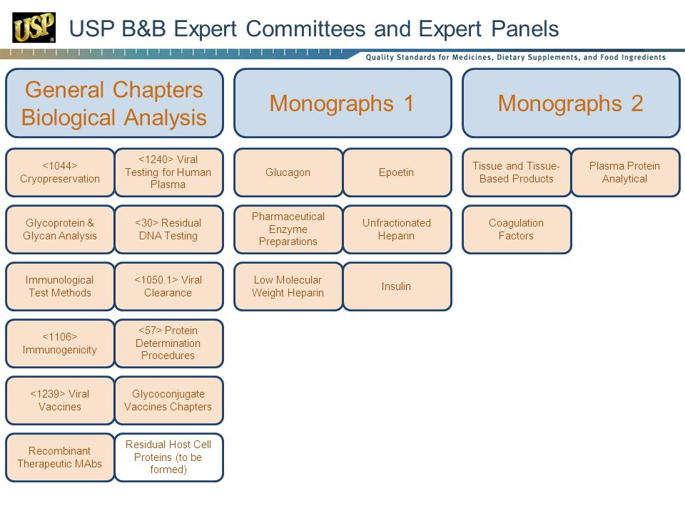 USP B&B Expert Committees and Expert Panels