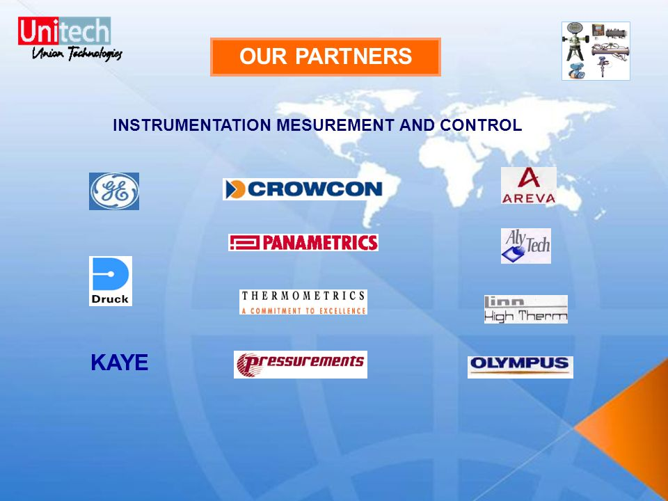 OUR PARTNERS INSTRUMENTATION MESUREMENT AND CONTROL KAYE