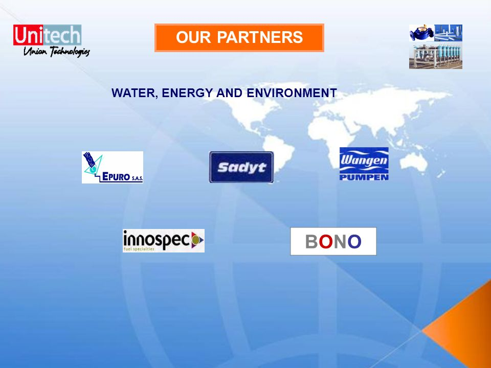 OUR PARTNERS WATER, ENERGY AND ENVIRONMENT BONO