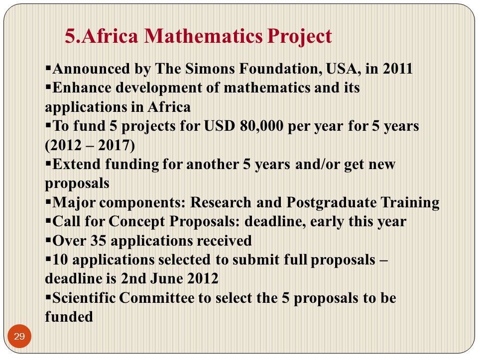 5.Africa Mathematics Project