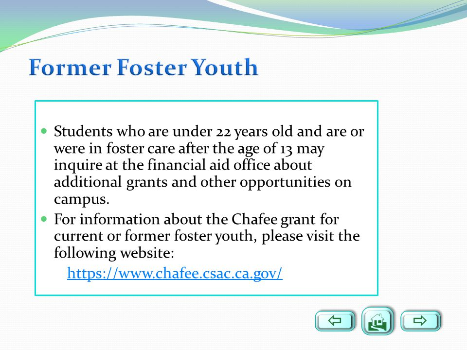 Former Foster Youth   