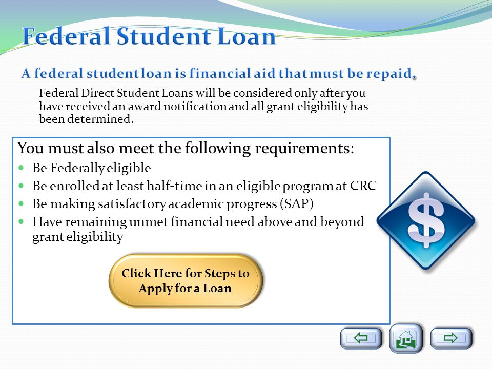 Click Here for Steps to Apply for a Loan
