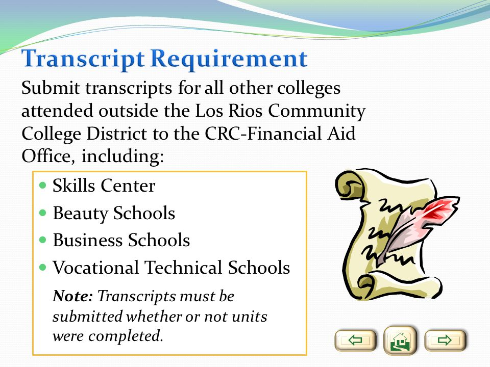 Transcript Requirement