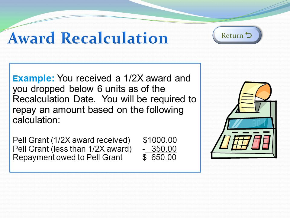 Award Recalculation Return 
